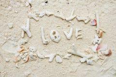 Simbolo sulla spiaggia Fotografia Stock Libera da Diritti