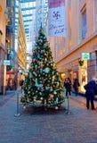 Simbolo tradizionale del Natale - Christma meravigliosamente decorato Fotografia Stock