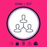Simbolo umano del collegamento Linea icona Immagini Stock