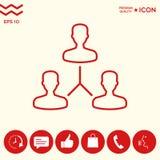Simbolo umano del collegamento Linea icona Fotografia Stock