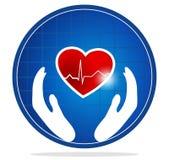 Simbolo umano di protezione del cuore illustrazione vettoriale