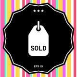 Simbolo venduto dell'etichetta Immagine Stock Libera da Diritti
