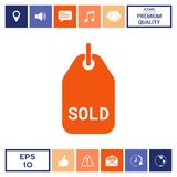 Simbolo venduto dell'etichetta Immagini Stock Libere da Diritti