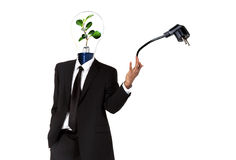 Simbolo verde di energia Immagini Stock