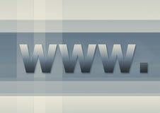 Simbolo WWW del Internet Fotografie Stock Libere da Diritti