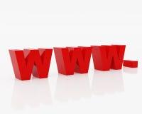Simbolo WWW del Internet Fotografia Stock Libera da Diritti