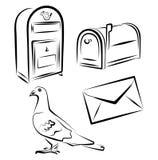 Simbols de service postal Images stock