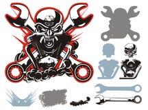 Simbols dei motociclisti di vettore impostati Fotografie Stock Libere da Diritti