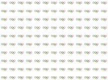 Simbols des Olympicsspielmusters. Ringe auf weißen Hintergründen Lizenzfreie Stockfotos