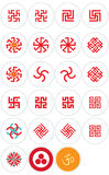 Simbols eslavos e orientais Foto de Stock Royalty Free