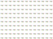 Simbols of olympics games pattern. rings on white backgrounds Royalty Free Stock Photos
