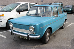 Simca bleu 1000 Photographie stock libre de droits