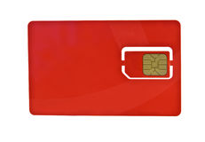 Simcard. Isolated on white background Royalty Free Stock Photography