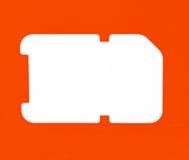 Simcard lokalisierte Lizenzfreies Stockbild