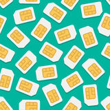SimCardVectorPattern Royalty Free Stock Image