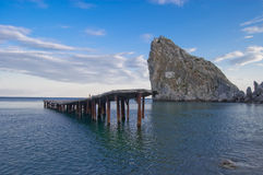 simeiz береговой породы Стоковое Изображение RF