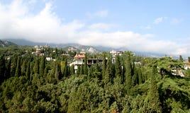 Βουνά στην Κριμαία σε Simeiz Στοκ Εικόνα