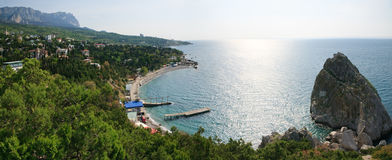 Simeiz town coastline (Crimea, Ukraine) Royalty Free Stock Images
