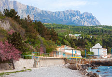 Simeiz town coastline (Crimea, Ukraine) Royalty Free Stock Photos
