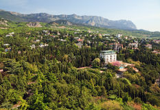 Simeiz town (Crimea, Ukraine) Royalty Free Stock Photos