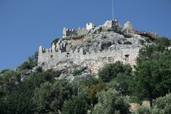 Simena Castle walls Royalty Free Stock Photos