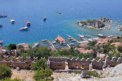 Simena, Kaleköy,   near Kenkova, Turkey Royalty Free Stock Image