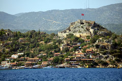 Simena, Kaleköy,   near Kenkova, Turkey Royalty Free Stock Photos