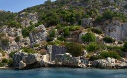 Simena sunken city. Turkey, Kekova Stock Image