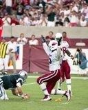 Simeon Rice, Arizona Cardinals DL Flagged After Hitting Troy Aikman. Image taken from a color negative royalty free stock images