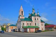 Simeon Stylites u. x27; s-Kirche und Rostow-Straße in Pereslavl-Zalessky, Russland Stockfotos