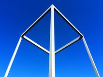Simetría arquitectónica en las líneas blancas fotos de archivo libres de regalías