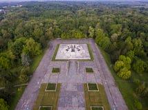 Simetría concreta urbana Fotografía de archivo libre de regalías