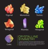 Simetría cristalina Foto de archivo