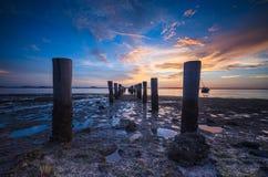 Simetría de la puesta del sol Foto de archivo libre de regalías