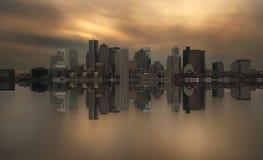 Simetría del horizonte de Boston imágenes de archivo libres de regalías