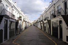 Simetría ideal de una calle en Londres Fotografía de archivo libre de regalías