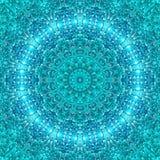 Simetria azul abstrata do teste padr?o do gelo backdrop ilustração stock