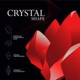 Simetria cristalina ilustração royalty free