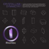 Simetria cristalina ilustração stock