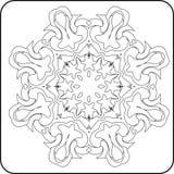 A simetria curva o teste padrão ilustração royalty free