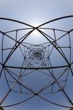Simetria da torre de potência Fotografia de Stock Royalty Free