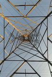 Simetria das linhas eléctricas imagem de stock