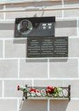 Simferopol, Crimea - 9 de mayo de 2016: Placa conmemorativa en el cuadrado Imagenes de archivo
