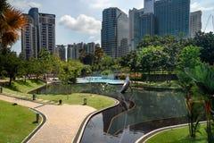 Simfoni Lake in KLCC Park. Kuala Lumpur Royalty Free Stock Image