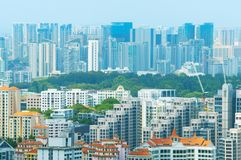 Singapore real estate overlooking Stock Photography