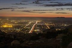 Simi谷加利福尼亚山景城 库存照片