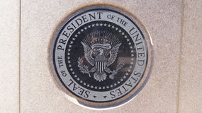 SIMI谷,加利福尼亚,美国- 2014年10月9日, :的罗纳德・里根总统` s长眠地 免版税库存照片