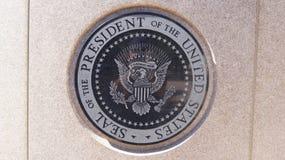 SIMI VALLEY, CALIFÓRNIA, ESTADOS UNIDOS - 9 de outubro de 2014: Lugar de descanso final do ` s do presidente Ronald Reagan no fotos de stock royalty free