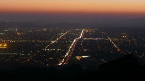 Simi Valley California Day to Night Time Lapse stock footage