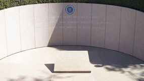 SIMI VALLEY, CALIFORNIA, UNITED STATES - OCT 9th, 2014: President Ronald Reagan`s final resting place at the Royalty Free Stock Images